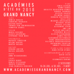 Academie Nancy 2018