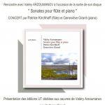 """Rencontre avec Valéry Arzoumanov à l\\\\\\\'occasion de la parution de son disque """"Sonates pour flûte et piano"""""""