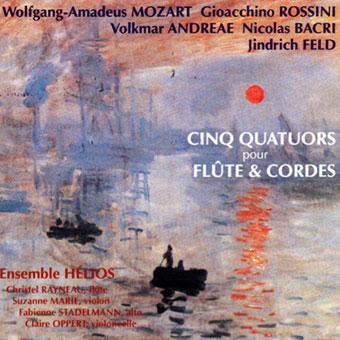 CD ENSEMBLE HÉLIOS - Récital - Cinq Quatuors pour flûte et cordes