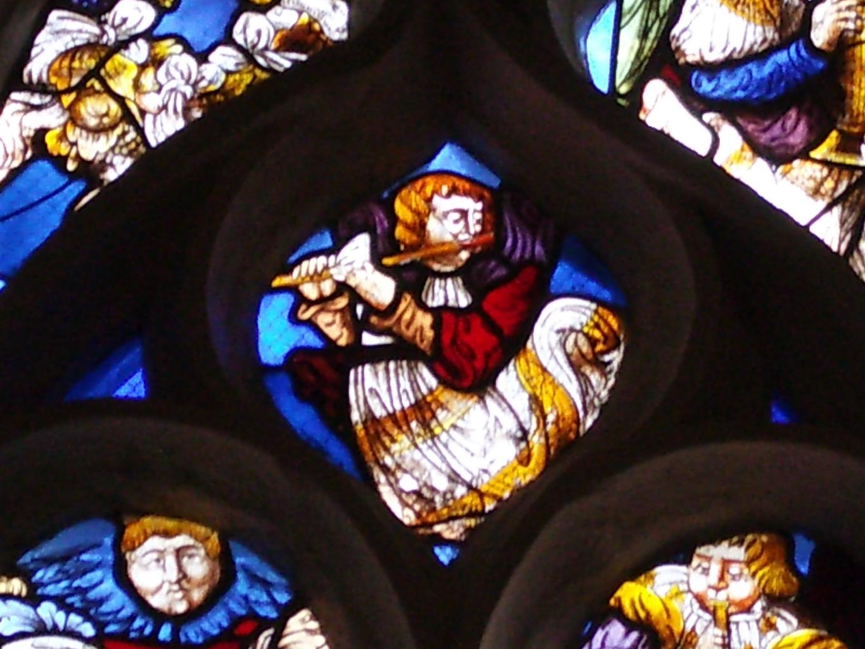 Détail de vitraux de la chapelle Saint-Fiacre du Faouët